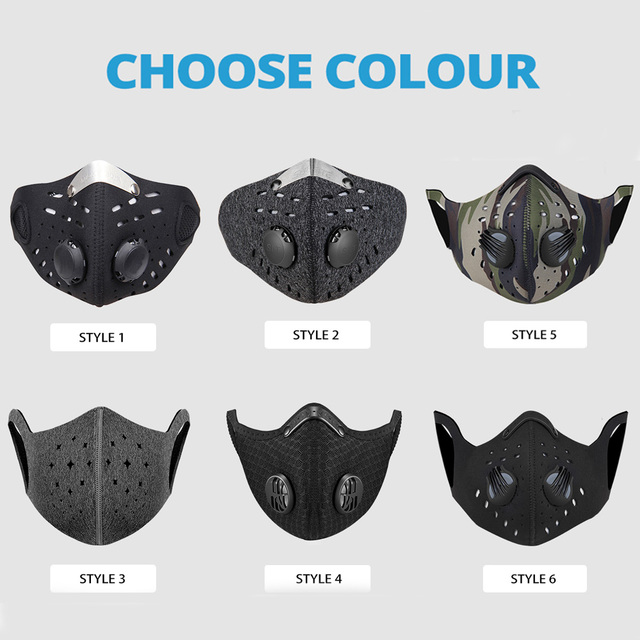 NEW Face Shield Balaclava Face Mask Motorcycle Face Masks Dust-proof Skull Valve Mask Moto With Breathable Vents Outdoor Masks 1