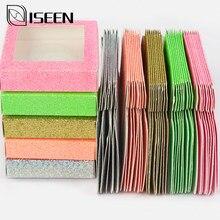 Atacado cílios embalagem personalizada 10-200 pçs caixa de embalagem de papel da caixa para cílios naturais fornecedor personalizar em kit de maquiagem a granel