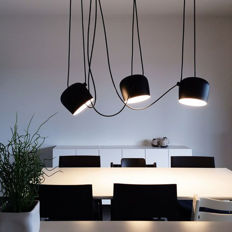 Industrial Lamp Luminaria Pendente Iron LED  Pendant Lights Home Decoration E27 Light Fixture Hanging Ceiling Lamps