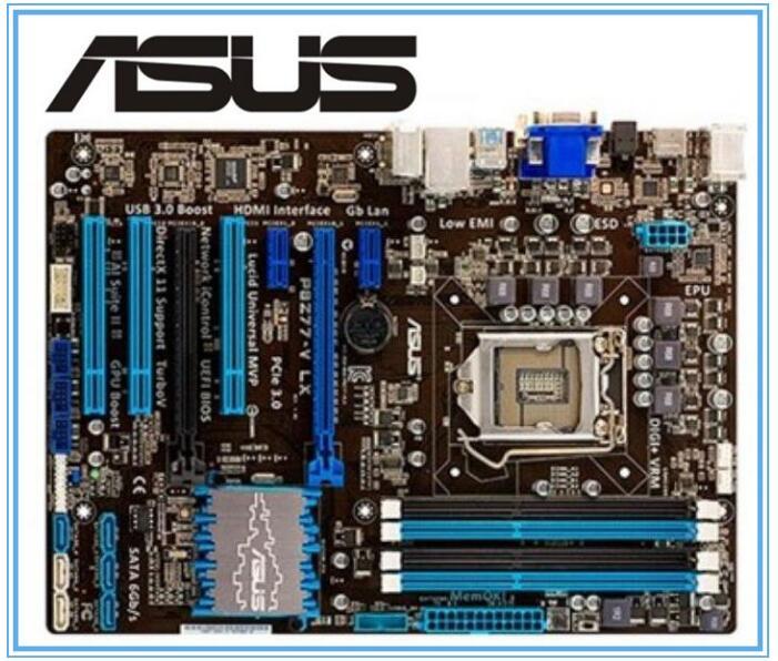 ASUS P8Z77-V LX Motherboard  LGA 1155 DDR3 I3 I5 22/32nm CPU USB3.0 32GB SATA3 VGA HDMI Z77 Desktop Used Motherboard
