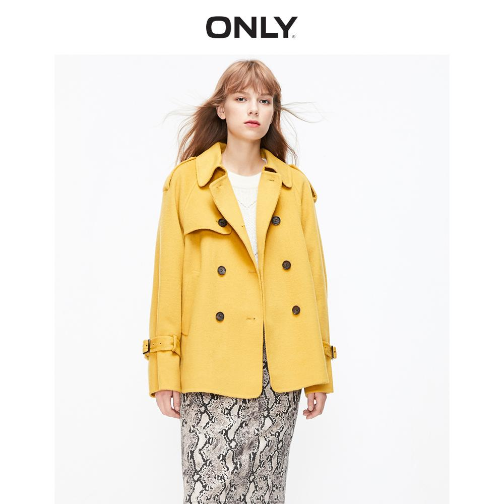 ONLY  Autumn Winter Women's Loose Fit Double-faced Woolen Coat | 11936T502