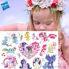 Hasbro My Little Pony cute Cartoon Temporary Tattoo Sticker For Girl Toy Waterproof Birthday Party Tool Gift