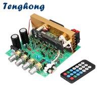 Tenghong 블루투스 오디오 앰프 보드 80 w + 80 w + 80 w 2.1 채널 서브 우퍼 전력 증폭기 오디오 보드 tf fm aux u 디스크 diy