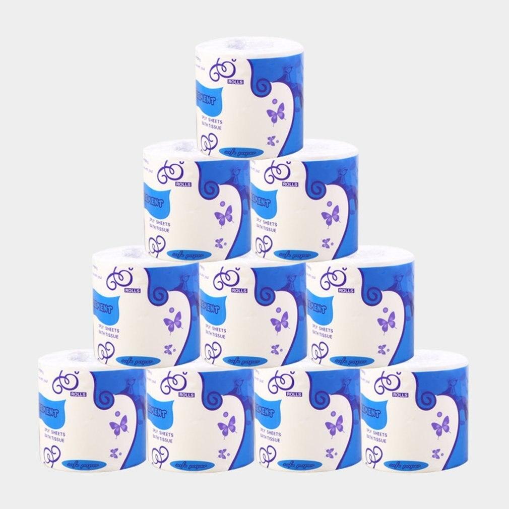 Toilet Paper Bulk Rolls / Standard 3-Ply   Bath Tissue Household Bathroom  Soft Paper Towel 1/2/6/10 Rolls