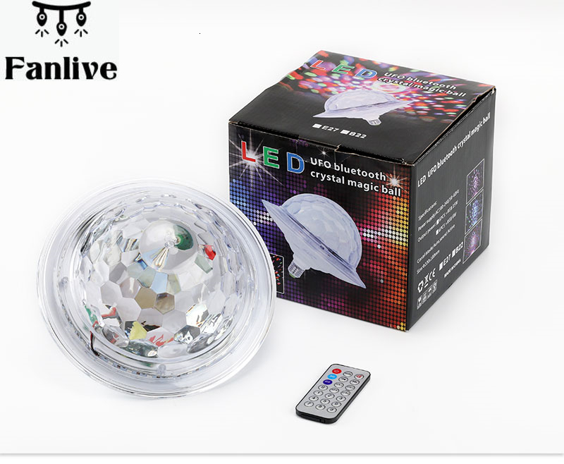 30pcs Ufo Led Disco E27 Bluetooth Mp3 Rgb Crystal Magic Rotating Ball 6 Colors Remote Control Projector Party Dj Stage Lighting Laser Flashlights Aliexpress