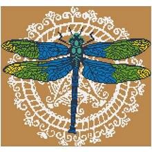Шаблоны для вышивки стрекозой 11ct 14ct 18ct наборы крестиком
