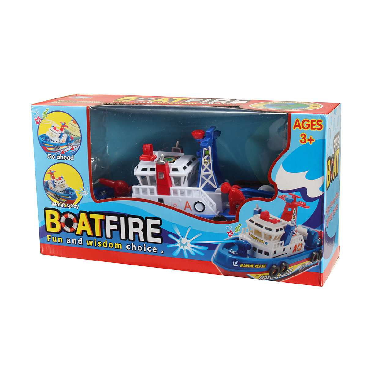 Rides In Water Time Squirting Ship Boat Toy Toddler Baby Bath  Rescue Squirts