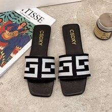 Plus Size Brand Design Vrouwen Falt Hakken Slipper Zomer 2021 Mode Platte Bodems Sildes Dames Muilezels Schoenen Sapatos De Mujer