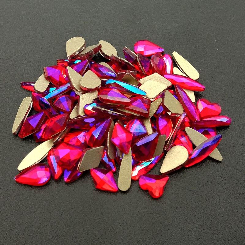 1440 unidades pacote atacado decoracao da arte do prego luz siam ab cristal de vidro pedra