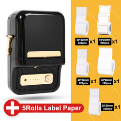 Mutlifunctional Thermal Label printer Sticker Barcode Mini Portable Label Printer For Moble Phone Android iOS B21 Niimbot