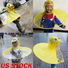 Новое дождливое пальто UFO Duck, детский плащ для малышей, детский зонтик, шляпа, волшебный плащ для детей