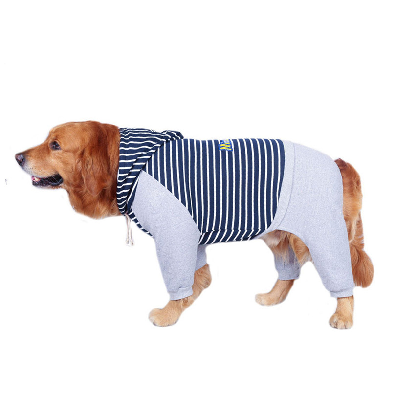 Cotton jumpsuit clothes for large dogs (7)