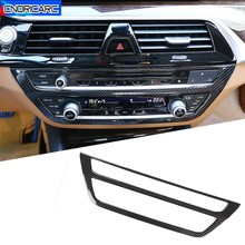 Car Center Console Air Conditioning Outlet CD Frame Decoration Sticker Trim For BMW 5 Series G30 G38 2018 2020 Interior Decals
