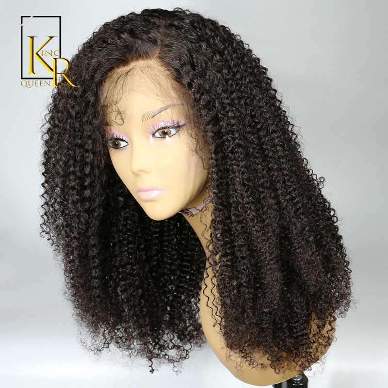 13x4Lace Front Human Hair Wigs For Black Women Brazilian Afro Kinky Curly Human Hair Wig Remy Hair Plucked Bleached Knots VS BOB