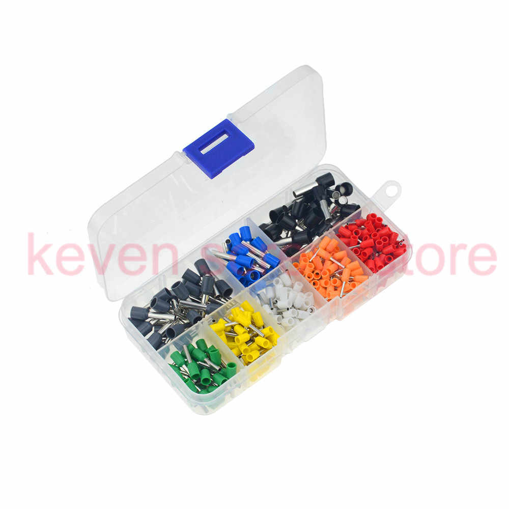 400PCS/box AWG 22-10 Insulated Cord Pin End Terminal Ferrules Kit Set Wire Copper Crimp Connector