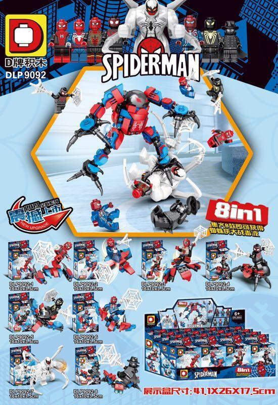 DLP9092 Set Sale Building Blocks Bricks Movie Series Spider Man Iron Man Action Figures Model Collection For Children Gift Toys