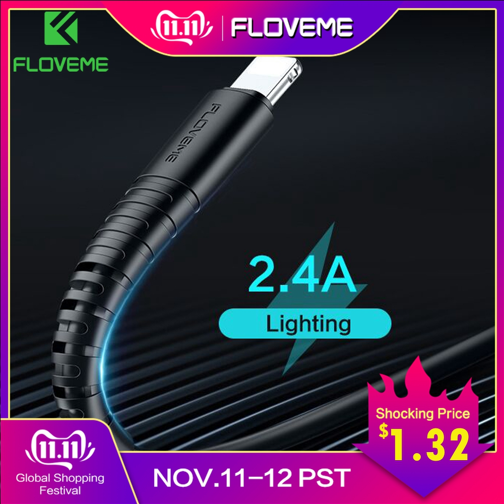FLOVEME For Lighting Cable USB Charger Cord Hi Tensile USB Cable Charging For Apple iPhone Xs Max XR X 7 6 s 6s Plus Short Wire-in Mobile Phone Cables from Cellphones & Telecommunications on AliExpress - 11.11_Double 11_Singles' Day