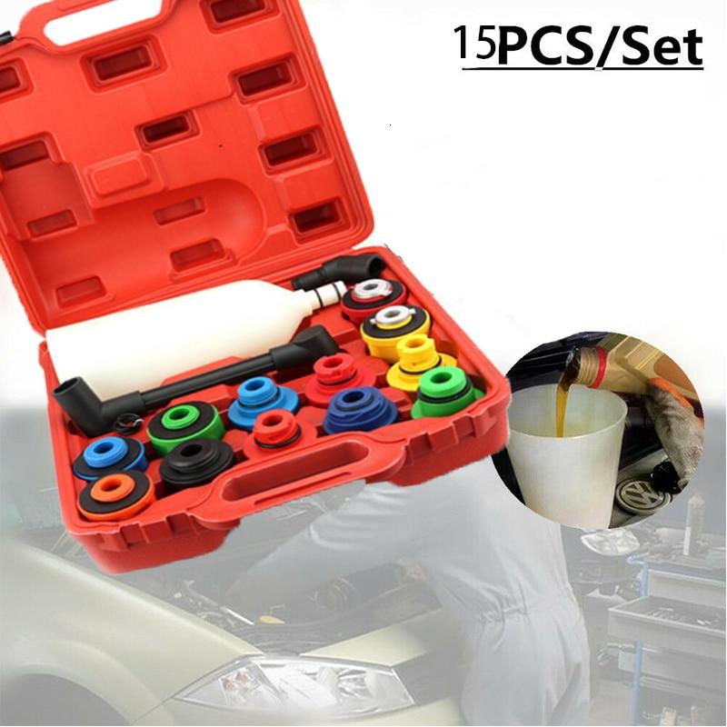 15 Pcs Engine Oil Funnel Set Universal Anti-overflow Oil Filter Tool Kit Filling System Automatic Repair Plastic Filling