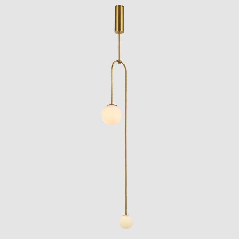 Işıklar ve Aydınlatma'ten Kolye ışıkları'de Modern asılı lamba ışığı Led yemek yatak odası yatak odası fuaye yuvarlak cam küre siyah altın İskandinav basit Modern kolye ışık lambası title=