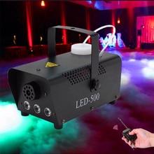 500W Rookmachine Met Rgb Led Licht/Draadloze Afstandsbediening Rookmachine/Stage Fogger Rook Ejector Voor disco Verlichting Dj Party