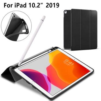 Tablet Case for Ipad 10.2 Case Folio Cover Case for Ipad 7th Generation Ipad 2019 Auto Wake/sleep Pencil Case