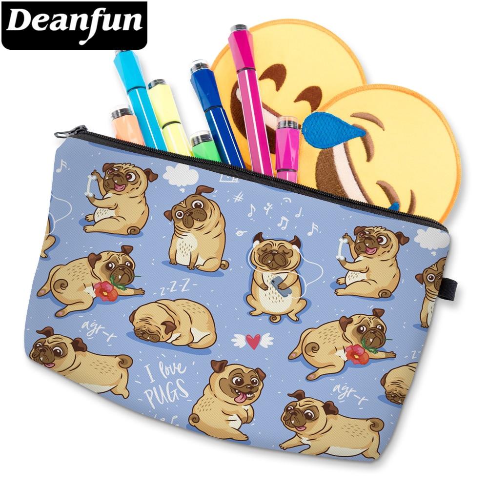 Deanfun 3D Printed Cute Pug Cosmetic Bag Waterproof Girls Storage Bag Cheap Makeup Bag For Women D51491