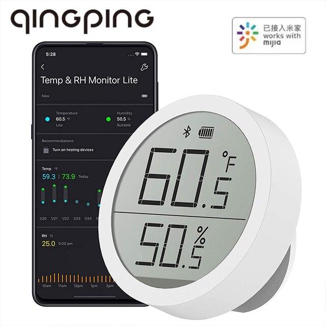 Qingping Bt Thermometer Hygrometer Temperatuur En Vochtigheid Sensor Segment Code Lcd scherm Lite Edition Werken Met Mijia App