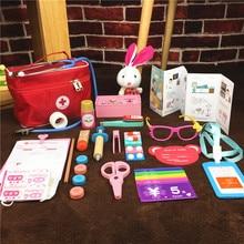 Toy-Set House Doctor Medicine-Box Simulation-Cloth-Bag Play Nurse-Injection Children
