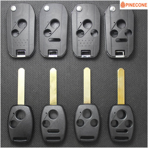 PINECONE for HONDA ACCORD CRV PILOT CIVIC 2003 2007 2008 2009 2010 2011 2012 2013 Modified& Replace Key Shell Case With LOGO(China)