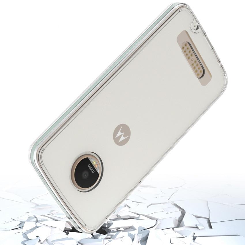 Motorola Moto Z Play Fundas Coque üçün nazik hibrid şoka davamlı - Cib telefonu aksesuarları və hissələri - Fotoqrafiya 3