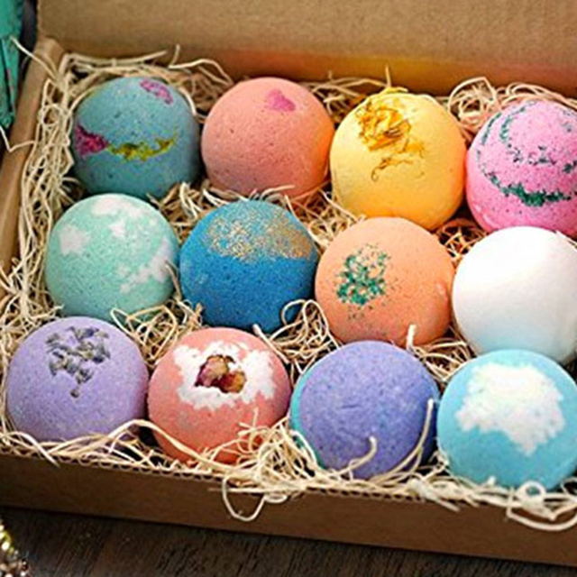 12Pcs Bath Salt Ball Bubble Shower Bombs Ball Body Cleaner Stress Relief Aromatic Moisturizing Exfoliating Skin Care Shower Ball 3