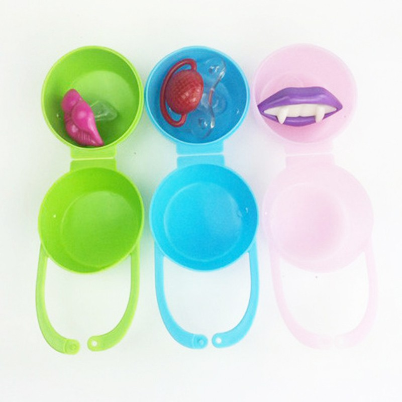 Baby Soother Container Holder Pacifier Box Travel Storage Case Gift Safe Pacifier Holder PP Plastic Box