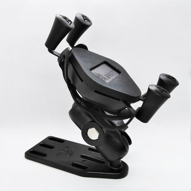 Universal Motorcycle Scooter Aluminum Brake/Clutch Reservoir Cell Phone Mount Holder Stand for 4 5.5 inch Smart Phones and GPS