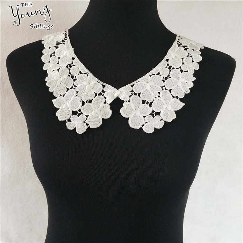 Fashion style White Lace Fabric Collar DIY Embroidery Applique Neckline Sewing Clothing Supplies Accessories Scrapbooking
