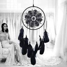 Nordic Style White Goose Feathers Dream Catcher Wedding Guest Valentine Gift Dreamcatcher Girls Room Home Decor Accessories