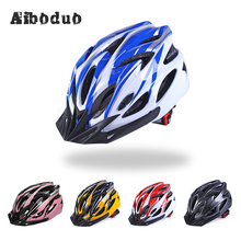 Bicycle Helmets Men Women Bike Adjustable Mountain Road Bike Integrally Molded Cycling Helmets Safety Cap недорого