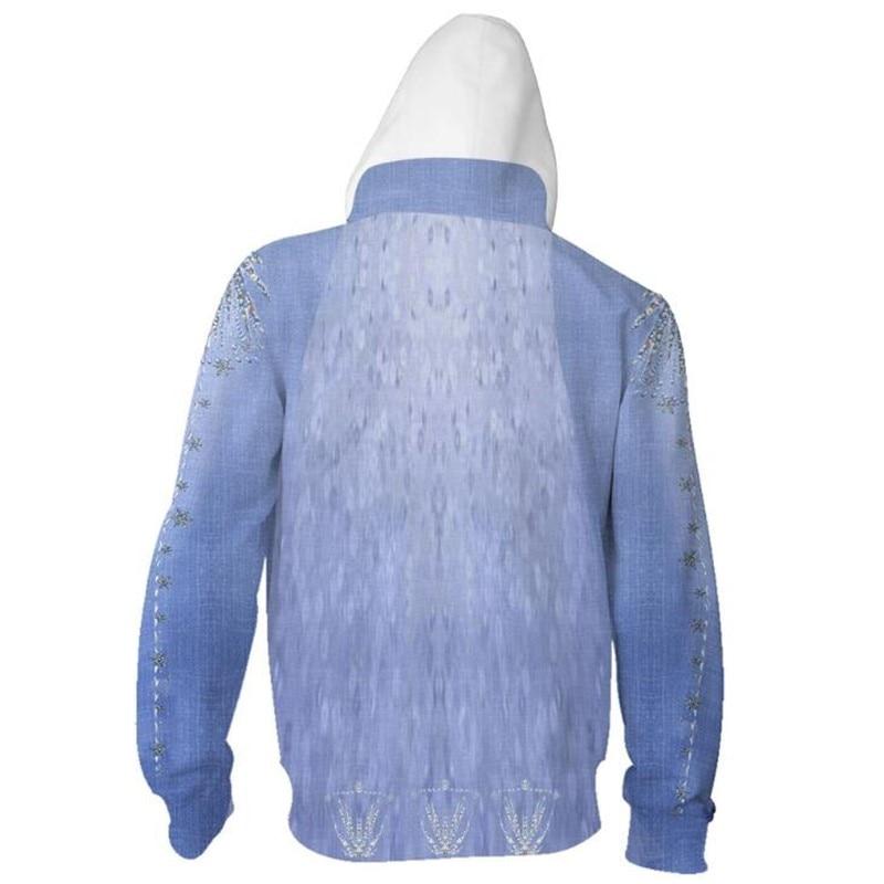 H278e317f709348fe898c43b47ef41d87u Jaqueta Frozen traje elsa cosplay filme moletom com capuz moletom masculino mulher roupas com zíper jaquetas