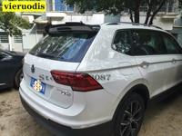 For Volkswagen VW Tiguan L Spoiler 2017 New Tiguan Car Tail Carbon Fiber Rear Roof Spoiler Wing Trunk Lip Boot Cover Car Styling