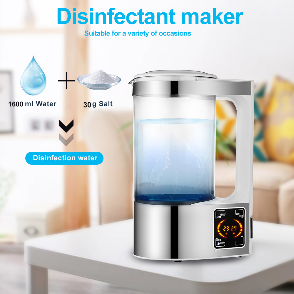 Hypochlorous Acid Water Maker Machine Household Disinfectant Machine Healthy Sodium Hypochlorous Generator Water Purifier 2L