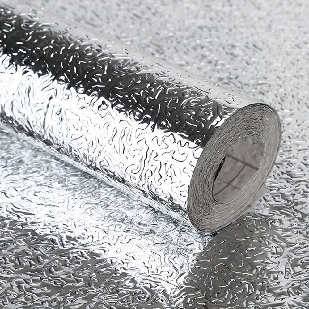 40x200cm Küche Wandaufkleber Aluminium Folie Wasserfest Abnehmbare Selbstklebend