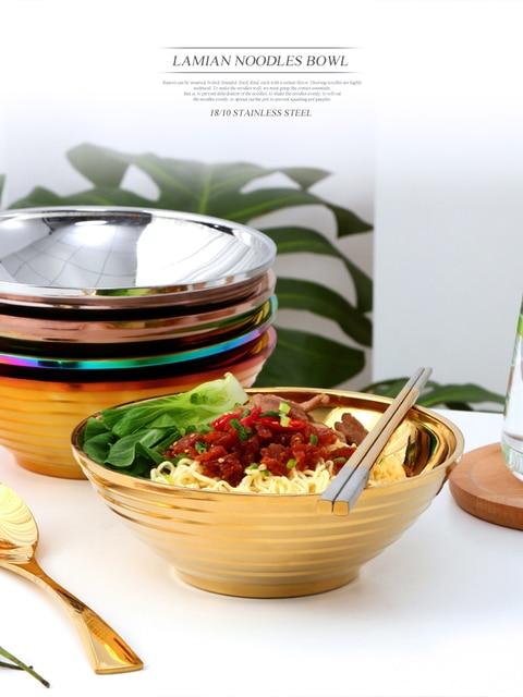 Большая миска ramen японская для лапши двухслойная суповая антиобжигающая