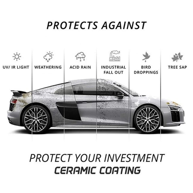 Anti Scratch Hydrophobic Polish Nano Coating Agent for Fog-Free Deep Shine Slick Surface and Long-lasting Protection TUE 5