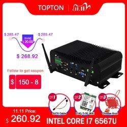 7x24 Hours Industrial Fanless Mini PC Intel i5-8250U i7-6567U Rugged Computer 6*COM 2*Lans 8*USB GPIO LPT PS/2 HDMI VGA 4G WiFi
