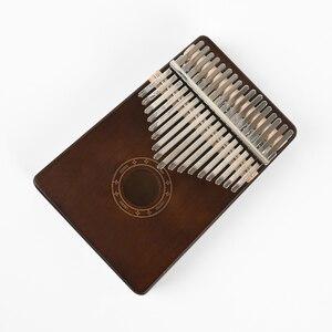 Image 5 - 6รูปแบบเริ่มต้นInstruments 17คีย์รูปแบบThumbเปียโนMahogany Bodyเครื่องดนตรี17 Keys Kalimbaคีย์บอร์ดดนตรี