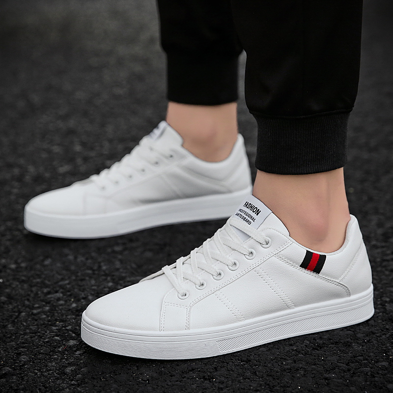 UNN Classic Designer Men Casual Shoes Fashion Sneakers Leather Soft Rubber Men Flats Shoes White Mens Shoes Footwear