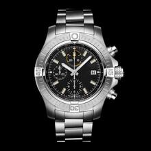 2020 luksusowy nowy chronograf mężczyźni szafirowe ze stali nierdzewnej Super 48 noc misja obrotowy Bezel niebieski czarny zegarek tanie tanio LUNDA NONE STAINLESS STEEL CN (pochodzenie) 20inch 3Bar Moda casual Cyfrowy Bransoletka zapięcie ROUND 22mm 11mm Stoper
