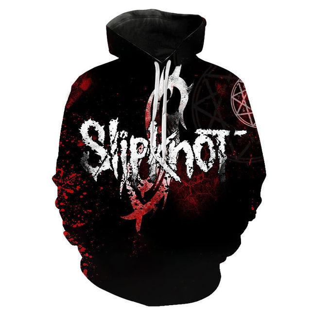 Slipknot 3D Print Hoodies Heavy Metal Rock Band Sweatshirt Men Women Fashion Streetwear Hoodie Hip Hop Pullover Tops Coat Unisex 2