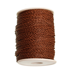Antique Copper Chain Stainless Steel Necklace Cable Bulk Iron Metal Chain Findings for necklace Finding 5m/lot (ILOVEDIY)