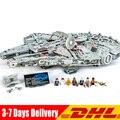 8445 PCS star Wars Il Grande Millennio UCS Falcon Set Building Blocks Mattoni Set FAI DA TE Giocattoli Compatibile LEGOINGLY 75192 05132