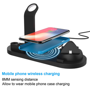 Image 4 - Qi Wireless Charger 4 in 1 Apple Watch Charger Dock iphone Charging Station Micro USB Type C Stand Fast Charging For All Phone